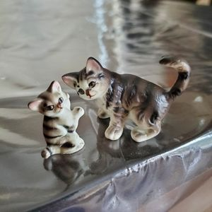 Miniature Tabby Cat 2 pc Set